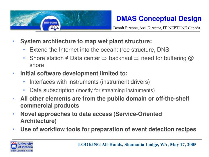 DMAS Conceptual Design