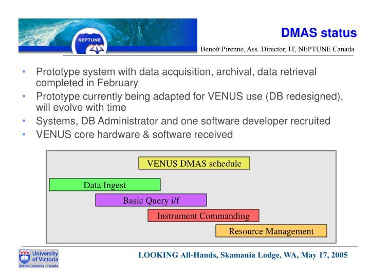 DMAS status
