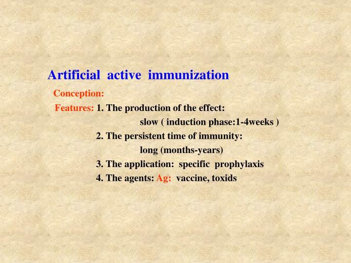 Artificial  active  immunization