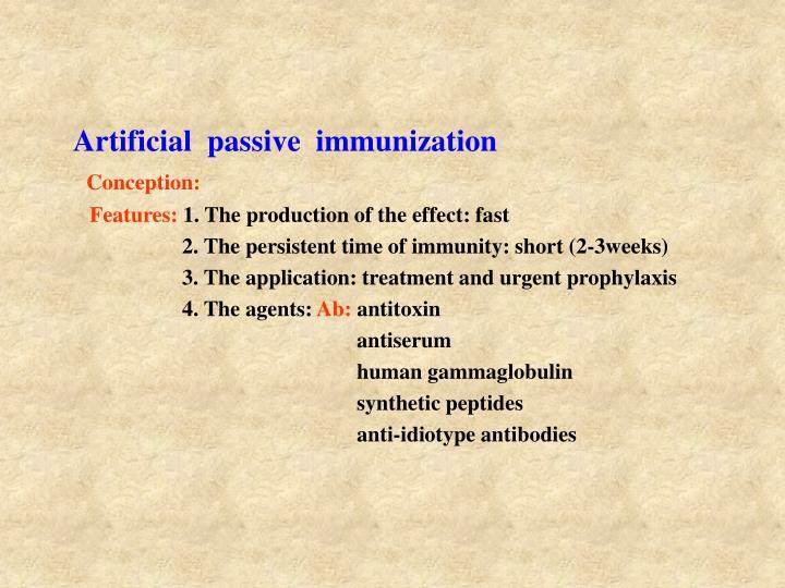 Artificial  passive  immunization