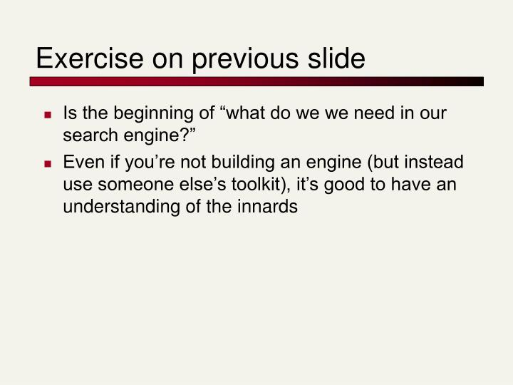 Exercise on previous slide
