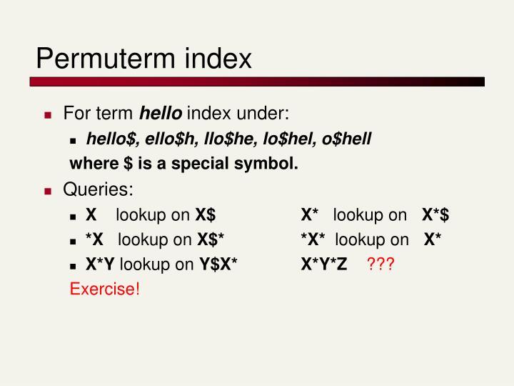 Permuterm index