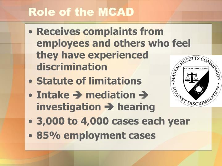 Role of the MCAD