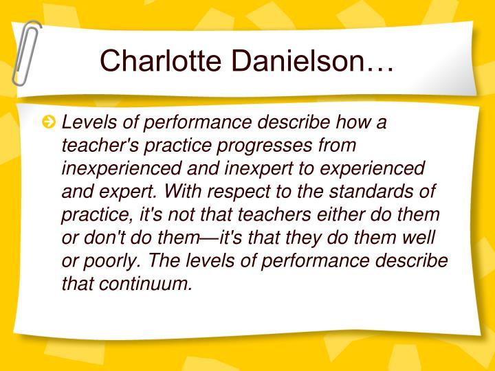 Charlotte Danielson…