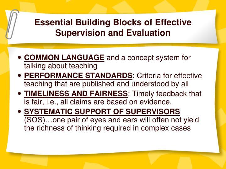 Essential Building Blocks of Effective