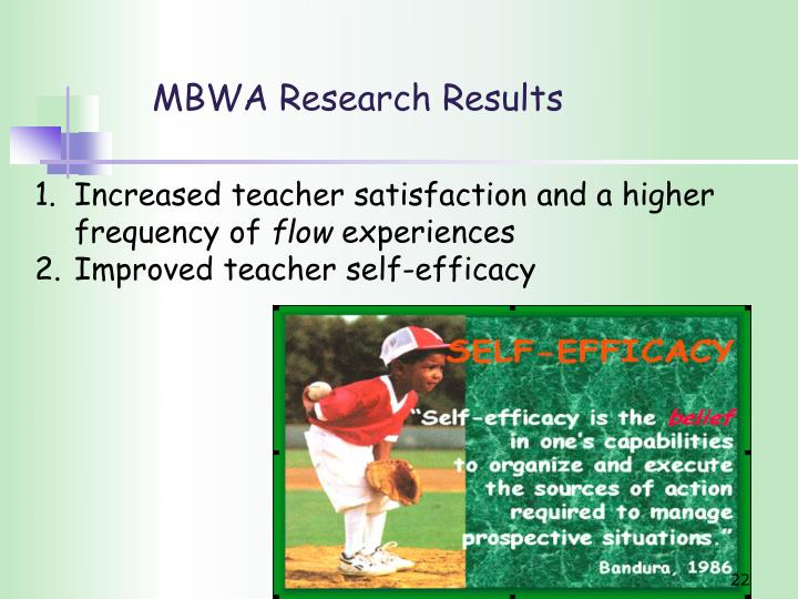 MBWA Research Results