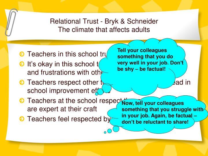 Relational Trust -