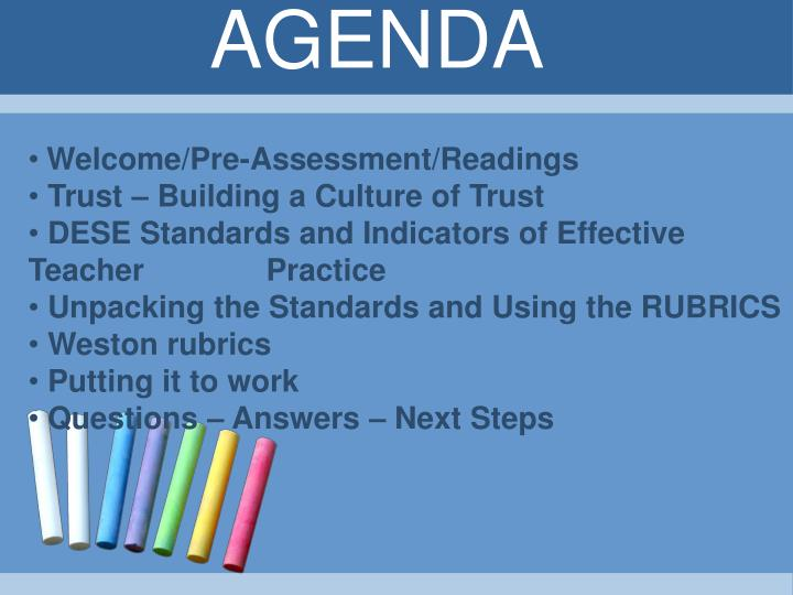 Welcome/Pre-Assessment/Readings