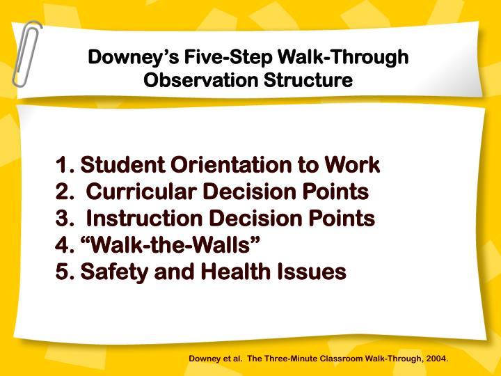 Downey's Five-Step Walk-Through