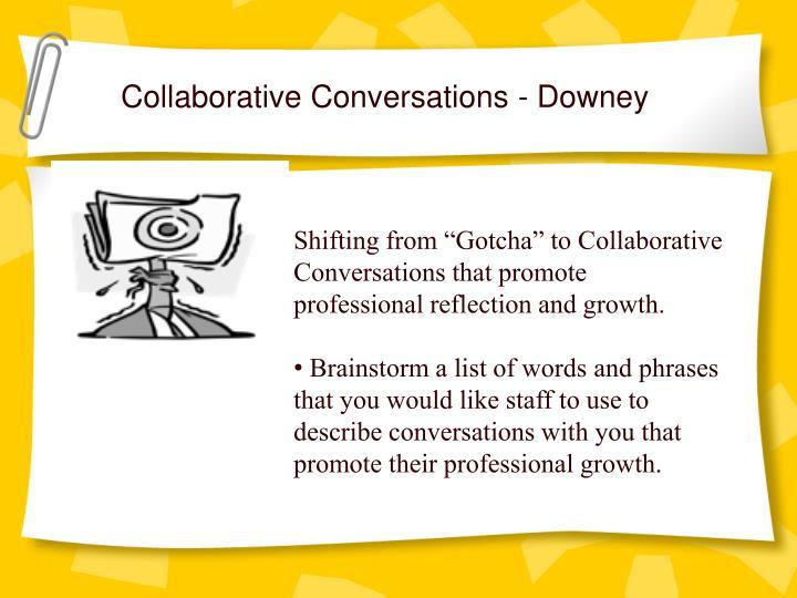 Collaborative Conversations - Downey