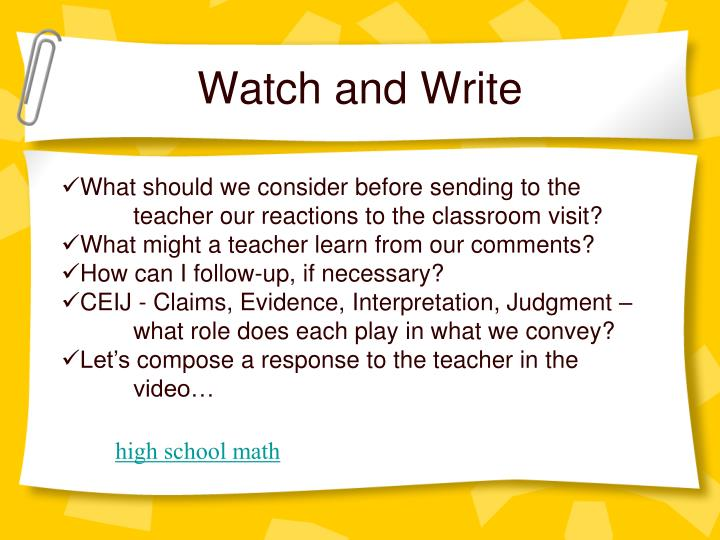 Watch and Write