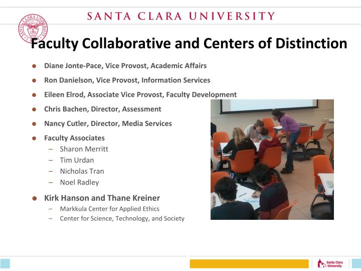 Faculty collaborative and centers of distinction