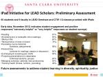 ipad initiative for lead scholars preliminary assessment