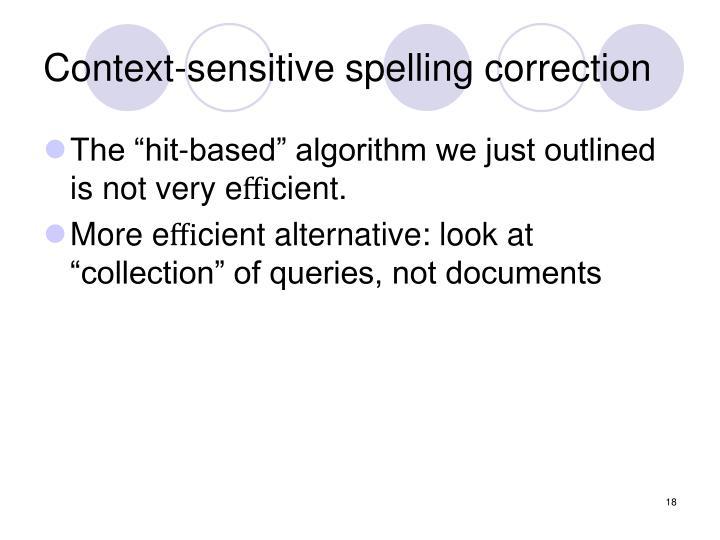 Context-sensitive spelling correction