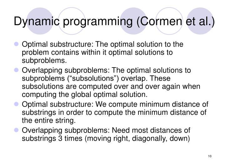 Dynamic programming (Cormen et al.)