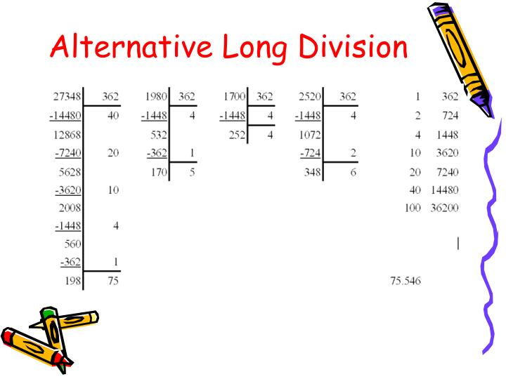 Alternative Long Division
