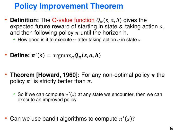 Policy Improvement Theorem