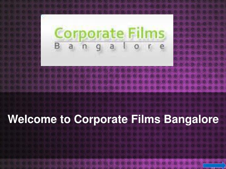 Welcome to Corporate Films Bangalore