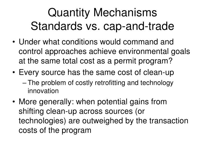 Quantity Mechanisms