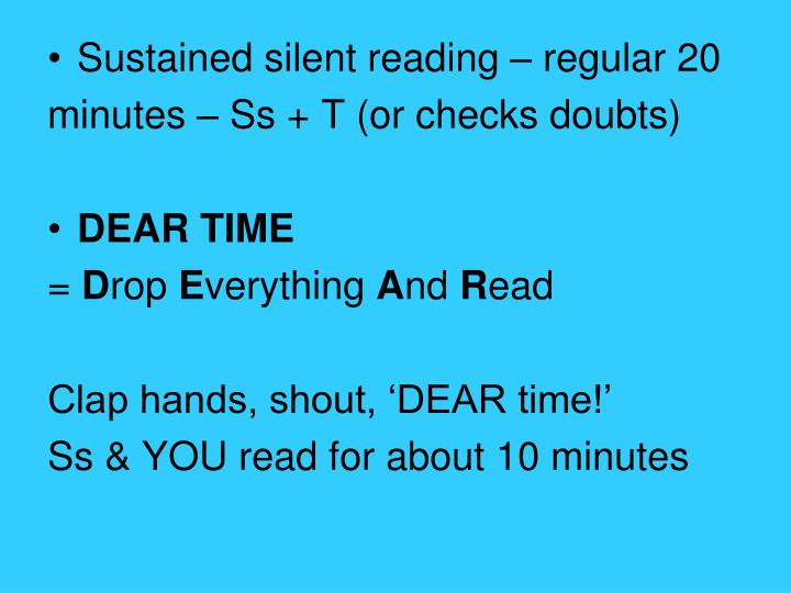 Sustained silent reading – regular 20