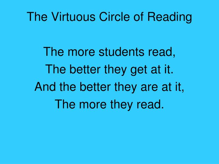 The Virtuous Circle of Reading