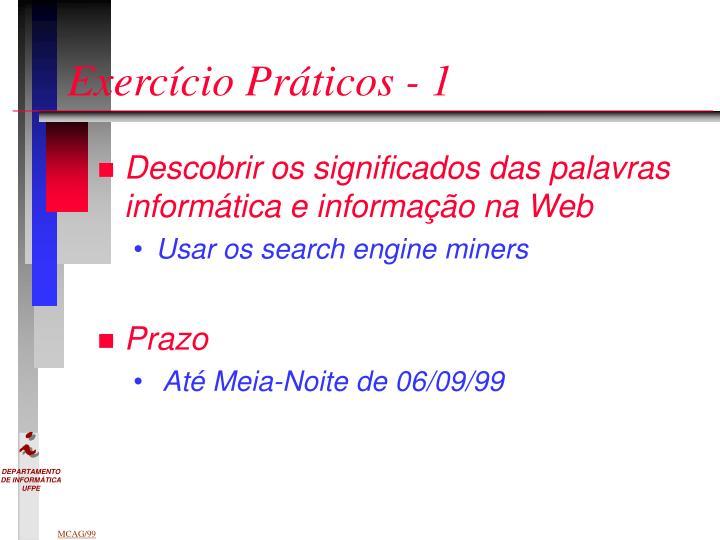 Exercício Práticos - 1