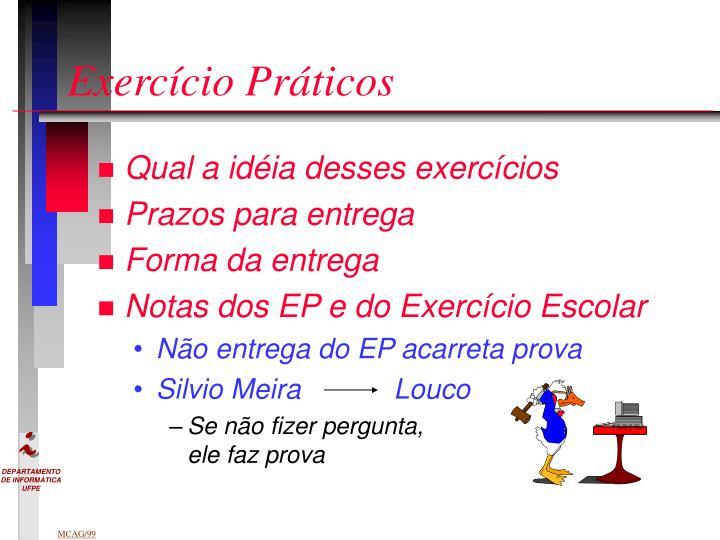 Exercício Práticos