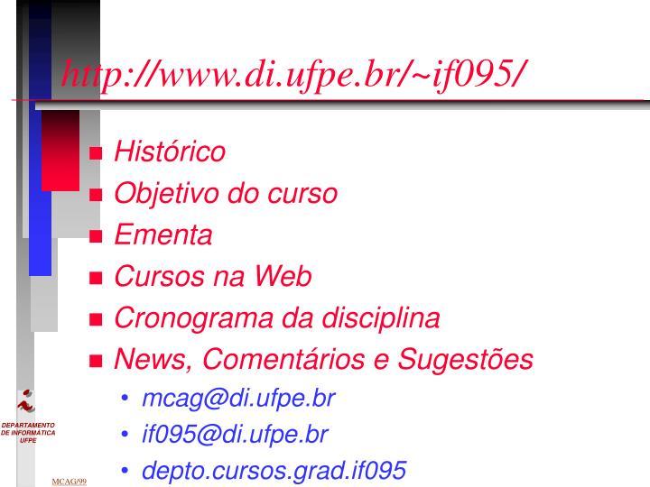 http://www.di.ufpe.br/~if095/