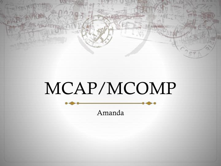 MCAP/MCOMP