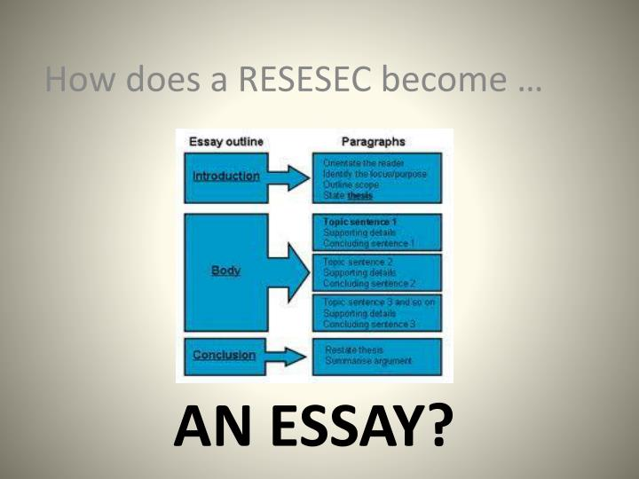 How does a RESESEC become …