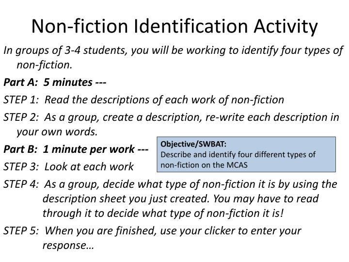 Non-fiction Identification Activity