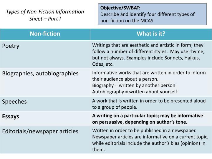 Objective/SWBAT:
