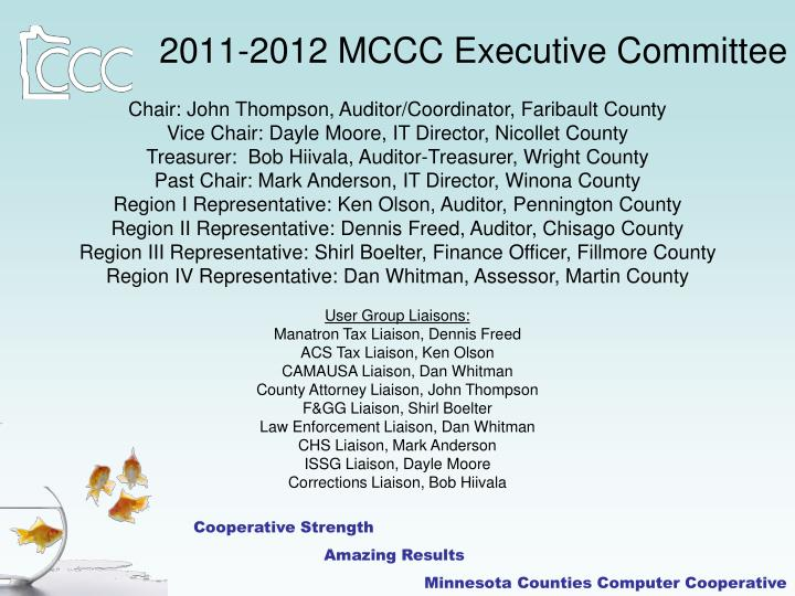 2011-2012 MCCC Executive Committee