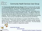community health services user group