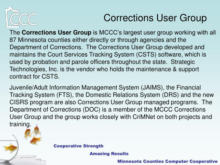 Corrections User Group