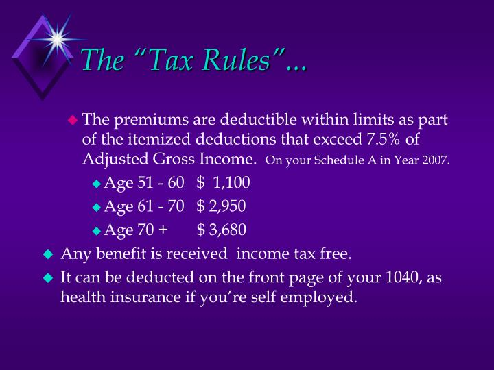 """The """"Tax Rules""""..."""