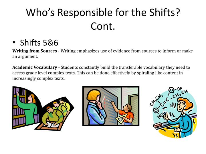 Who's Responsible for the Shifts? Cont.