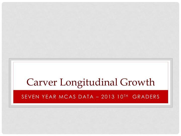 Carver Longitudinal Growth