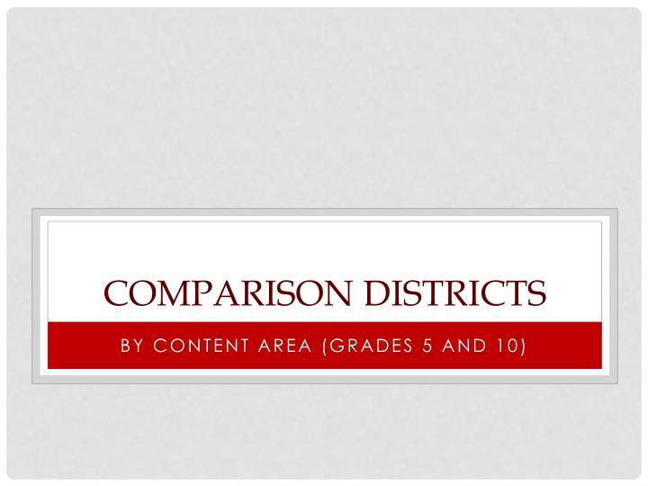 Comparison districts