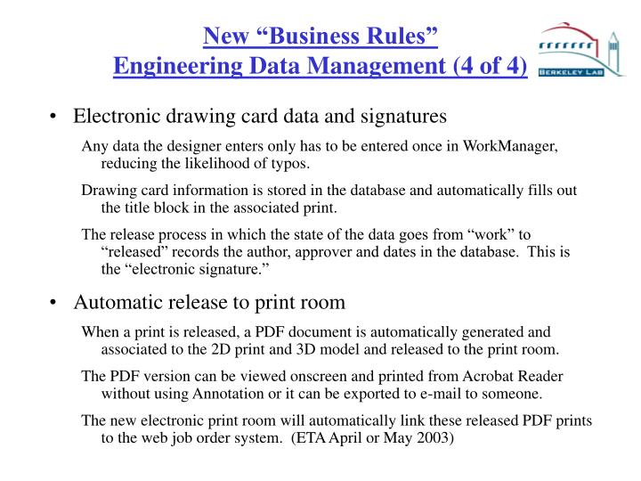 """New """"Business Rules"""""""