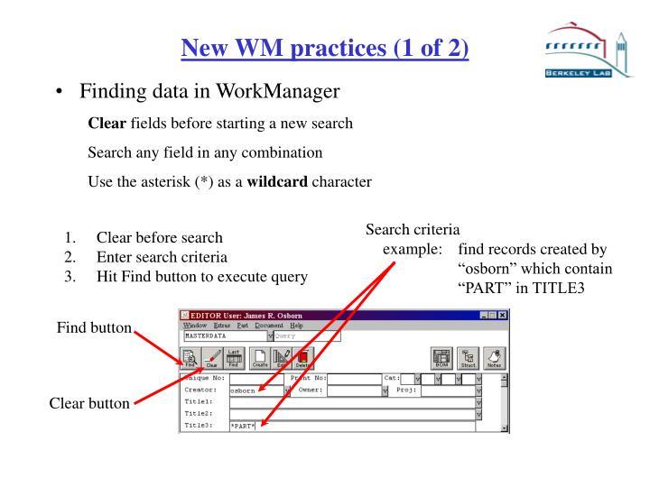 Search criteria