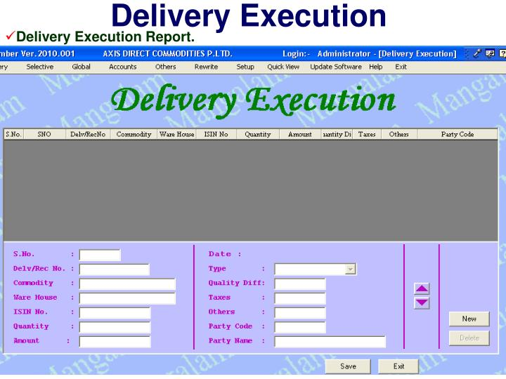 Delivery Execution