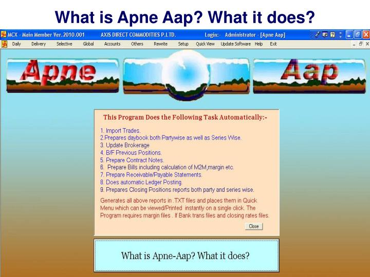 What is Apne Aap? What it does?