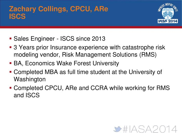Zachary Collings, CPCU, ARe