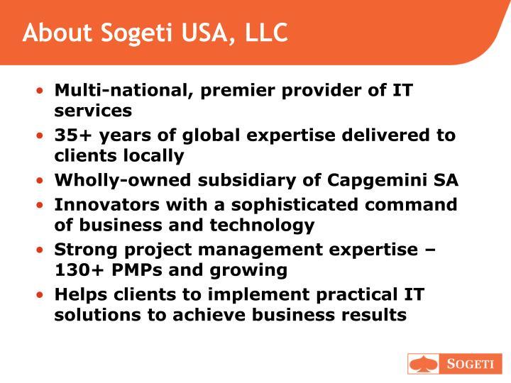 About Sogeti USA, LLC