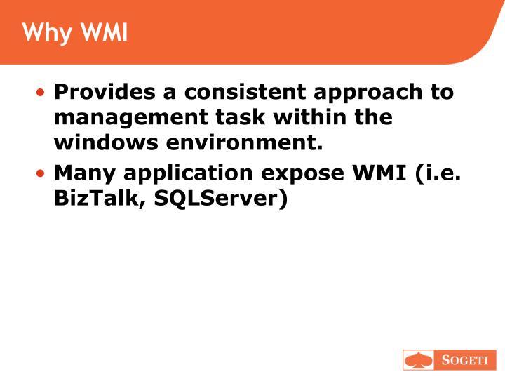 Why WMI