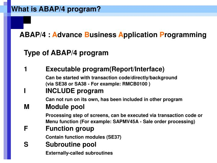What is ABAP/4 program?