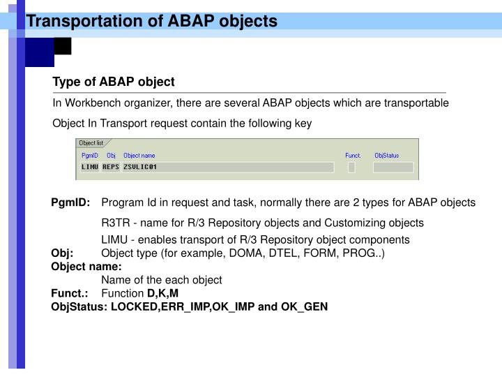 Transportation of ABAP objects