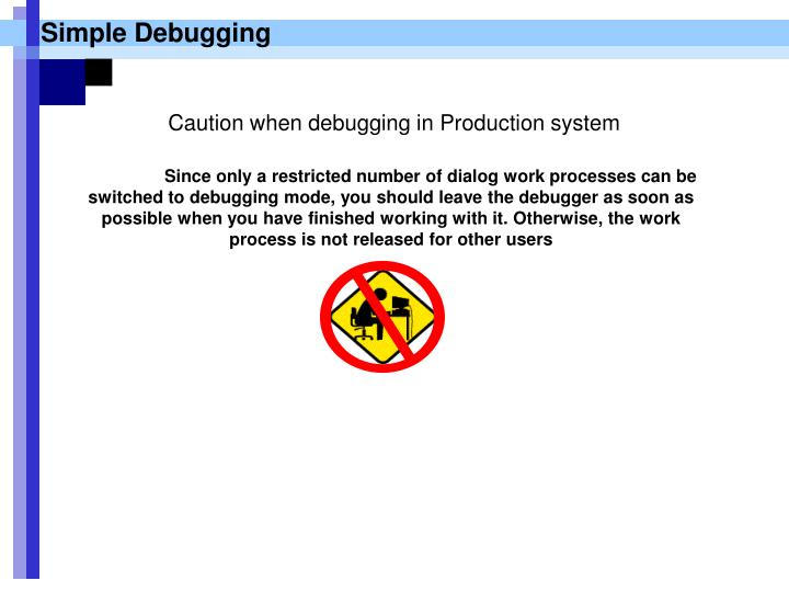Simple Debugging