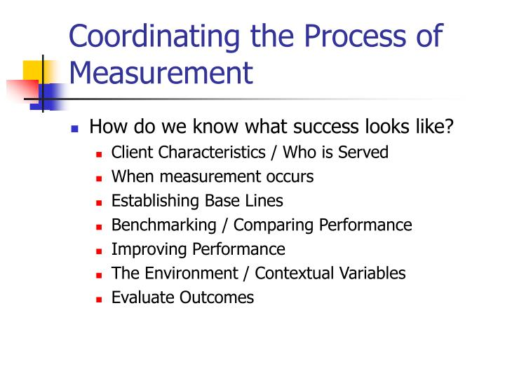 Coordinating the Process of Measurement